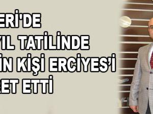 KAYSERİ'DE YARIYIL TATİLİNDE 600 BİN KİŞİ ERCİYES'İ ZİYARET ETTİ