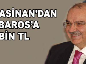 KOCASİNAN BELEDİYESİ'NDEN BARBAROS'A 270 BİN TL