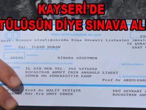 KAYSERİ'DE BAŞÖRTÜLÜSÜN DİYE SINAVA ALINMADI