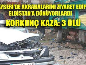 Ölüm Kayseri'den Dönerken Yakaladı:3 Ölü