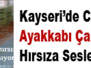 Kayseri'de Camiden Ayakkabı Çalan Hırsıza Seslenen İmam