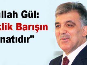 """Abdullah Gül: """"Laiklik barışın teminatıdır"""""""