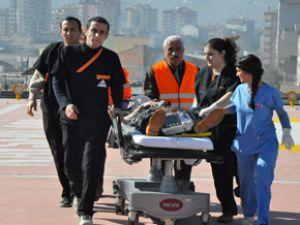 Kayseri'de Hava Ambulansı Can Kurtardı