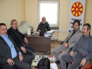 Eğitim-Bir-Sen Türkiye Yazarlar Birliği Kayseri şubesini ziyaret etti