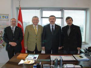 DEMOKRAT PARTİ İL BAŞKANI ÖZBAKKAL KAYSO'YU ZİYARET ETTİ
