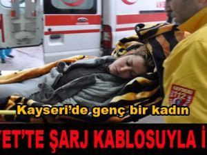 HÜRRİYET'TE ŞARJ KABLOSUYLA İNTİHAR