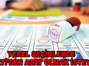 2014 YEREL SEÇİMLERDE AK PARTİ'DEN ADAY OLMAK İSTEYENLER
