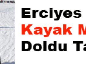 Erciyes Kayak Merkezi Doldu Taştı