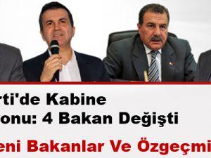 Ak Parti'de Kabine revizyonu: 4 bakan değişti
