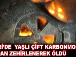 KAYSERİ'DE YAŞLI ÇİFT SOBADAN SIZAN GAZDAN ZEHİRLENEREK ÖLDÜ