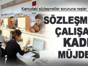 2013 Kamudaki sözleşmeli çalışanlara kadro müjdesi