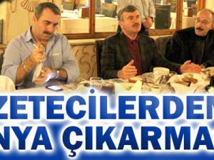 Gazeteciler Konya'ya çıkarma yaptı
