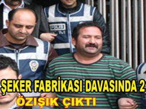 KAYSERİ ŞEKER FABRİKASI DAVASINDA ÖZIŞIK ÇIKTI 2 TAHLİYE