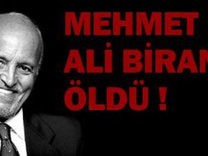 Gazeteci Mehmet Ali Birand' öldü