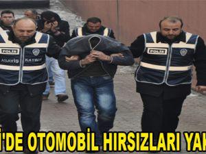 KAYSERİ'DE OTOMOBİL HIRSIZLARI YAKALANDI