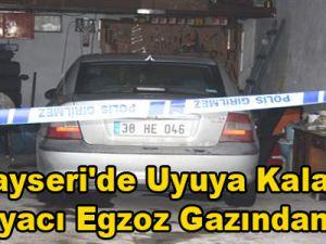 Kayseri'de Uyuya Kalan Mobilyacı Egzoz Gazından Öldü