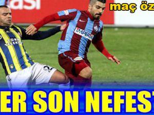 Yüksek Gerilimli Maç Sona Erdi!.. 1461 Trabzon-Fenerbahçe Maç Sonucu...