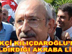 Kılıçdaroğlu'nun CHP'li belediyelerdeki akrabaları