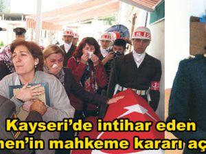 Kayseri'de Görev Yapan Üsteğmen'in Davası Kovuşturmaya değer görülmedi