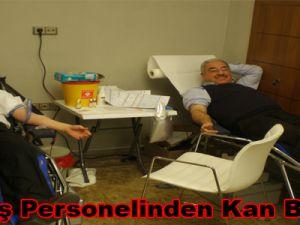 """""""Kınaş personelinden kan bağışı"""""""