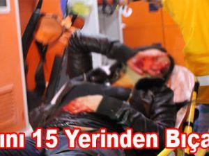 Karısını 15 Yerinden Bıçakladı