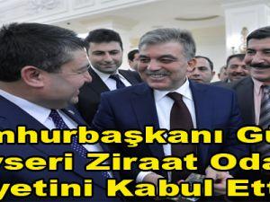 Cumhurbaşkanı Gül Kayseri Ziraat Odaları Heyetini Kabul Etti