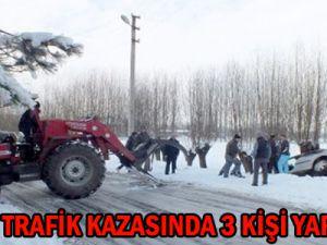 KAYSERİ'DE İKİ AYRI TRAFİK KAZASINDA 3 KİŞİ YARALANDI