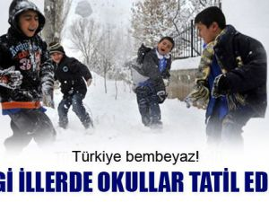 Bugün hangi illerde ve ilçelerde okullar tatil? 9 Ocak 2013 Çarşamba