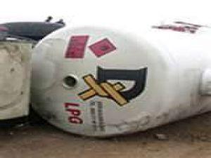 İncesu'da Akaryakıt Tankeri Devrildi 1 Yaralı