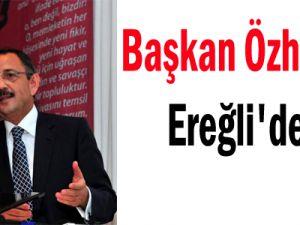 Kayseri Büyükşehir Belediye Başkanı Özhaseki Ereğli'de