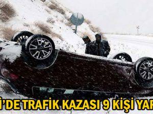 KAYSERİ'DETRAFİK KAZASI 9 KİŞİ YARALANDI