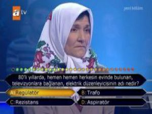Ümmiye Teyze Kim Milyoner Olmak İster'e damga vurdu- izle