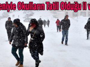 Kar Nedeniyle OkullarınTatil Olduğu il ve ilçeler