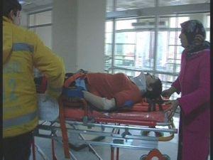 Kayseri'de Çatıdan Düşen Kadın Hastanelik Oldu