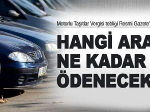 Yeni Yılda Motorlu Araçlar Vergisi