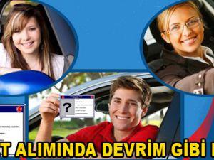 EHLİYET ALIMINDA DEVRİM GİBİ KARAR!
