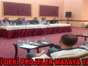 KAYSERİ'DEKİ PROJELER MASAYA YATIRILDI