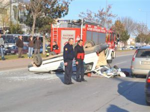 Kayseri'de Takla Atan Araç 4'ü Çocuk 7 Yaralı