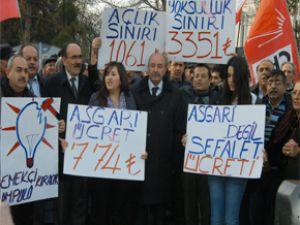 CHP KAYSERİ İL BAŞKANLIĞI  Yeni Asgari Ücreti Protesto Etti
