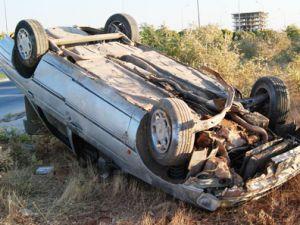 Kayseri İncesu'da Otomobil Devrildi: 4 Yaralı