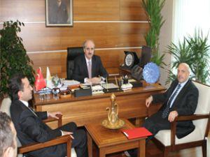NUMAN KURTULMUŞ, HAK-İş Genel Başkanı Arslan'ı kabul etti
