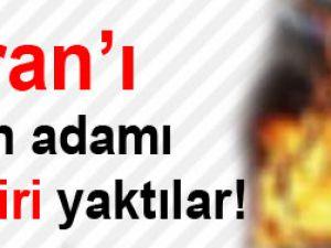 Kur'an'ı yakan adamı diri diri yaktılar!