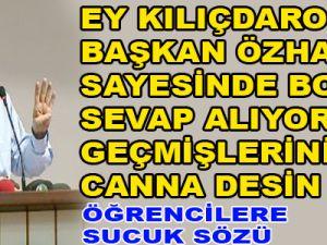 ÖZHASEKİ'DEN ERÜ ÖĞRENCİLERİNE 1000 PAKET SUCUK SÖZÜ