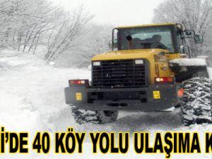 KAYSERİ'DE 40 KÖY YOLU ULAŞIMA KAPANDI