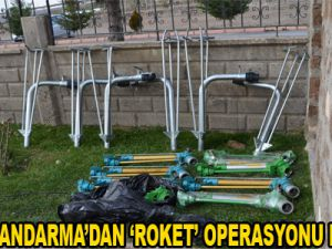 KAYSERİ JANDARMA'DAN 'ROKET' OPERASYONU HIRSIZLIĞI