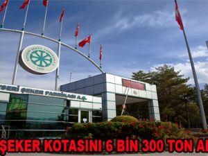 KAYSERİ ŞEKER KOTASINI 6 BİN 300 TON ARTTIRILDI