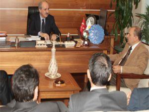 Kurtulmuş MÜSİAD Ankara Yönetimini kabul etti
