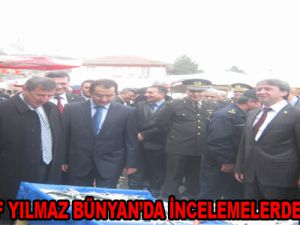 VALİ ŞERİF YILMAZ BÜNYAN'DA İNCELEMELERDE BULUNDU