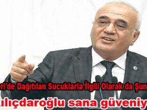 Elitaş:Kayseri'de dağıtılan sucuklarla ilgili Olarak da Şunları Kaydetti: