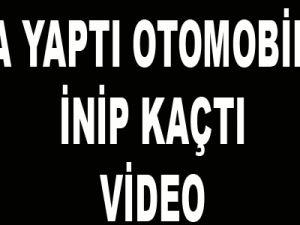 KAZA YAPTI OTOMOBİLDEN İNİP KAÇTI-VİDEO